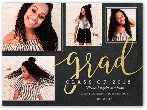 Majestic Year Graduation Announcement, Square Corners