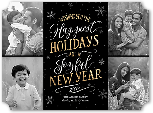 Festive Snowflake Gallery Holiday Card