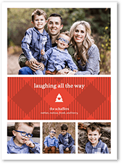 laughing plaid holiday card