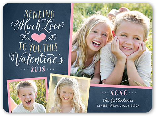 Sending Much Love Valentine's Card, Rounded Corners