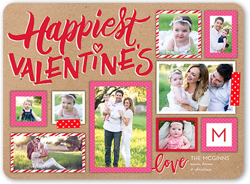 Pattern Fun Frames Valentine's Card, Rounded Corners