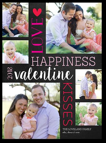 Vertical Love Valentine's Card, Square Corners