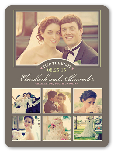 Tied The Knot Collage Wedding Announcement