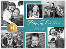 monogram collage easter card 6x8 flat