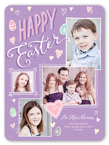 Happy Easter Frames Easter Card, Rounded Corners