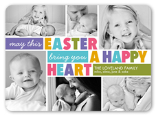 happy heart collage easter card 6x8 flat