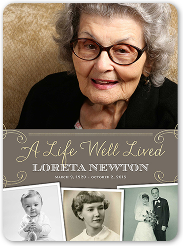 Life Well Lived Sympathy Card