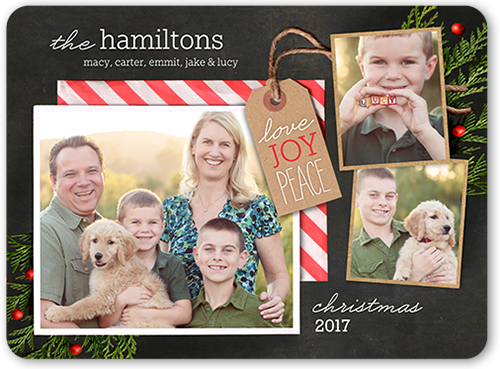 Gifted Joy Christmas Card, Rounded Corners