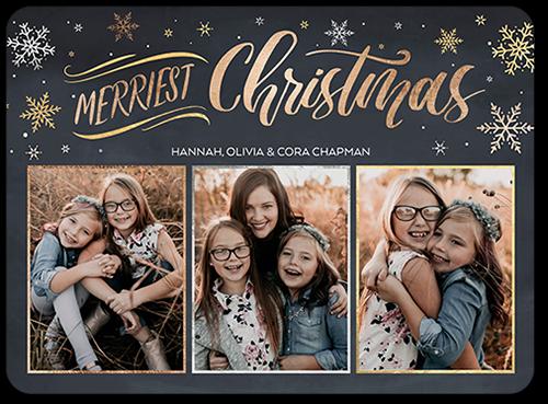 Chalkboard Snowfall Christmas Card