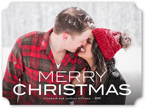 Festive Greetings Christmas Card, Ticket Corners