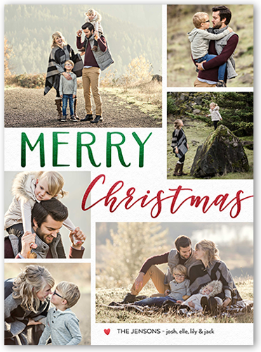 contemporary merry 6x8 christmas cards holiday card shutterfly - Shutterfly Holiday Cards