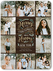 merry forest christmas card