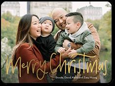 thin festive flourish christmas card