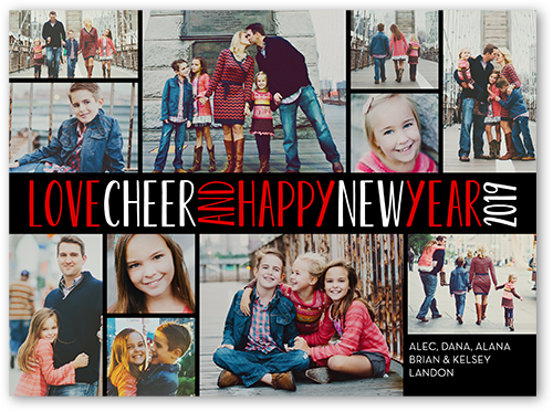 Cheery Love New Year's Card