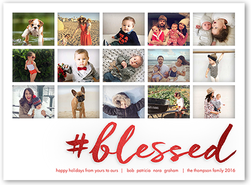 Hashtag Blessed Religious Christmas Card