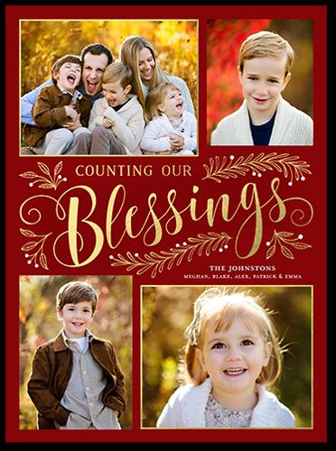 Sending Our Blessings Religious Christmas Card