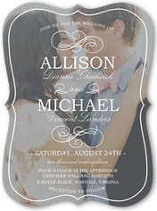 flourish with love wedding invitation 6x8 flat