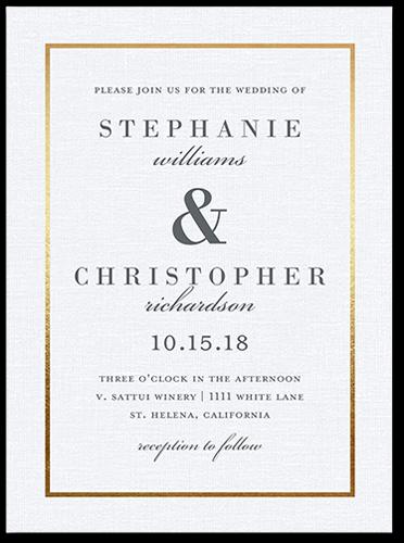 Simple Solid Frame Wedding Invitations