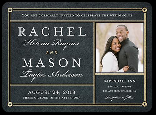 Star Studded Romance Wedding Invitation, Square