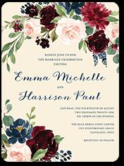 exquisite bouquet wedding invitation