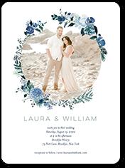 fall wreath wedding invitation