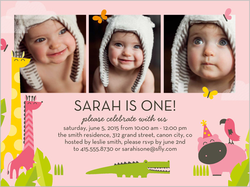 Friends And Fun Girl 4x5 Invitation – Shutterfly Birthday Invites