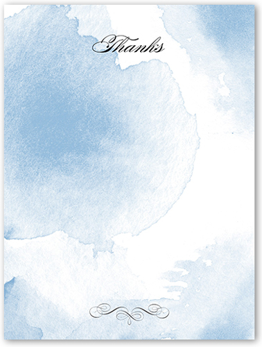 Watercolor Elegance Thank You Card