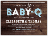 baby q party boy baby shower invitation 4x5 flat