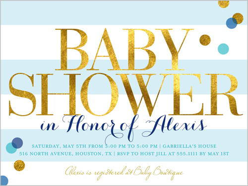 Lots Of Shine Boy 4x5 Invitation Baby Shower Invitations