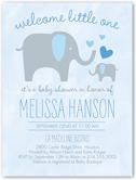 sweet elephant boy baby shower invitation 4x5 flat