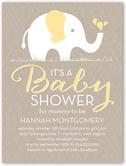 patterned elephant baby shower invitation 4x5 flat