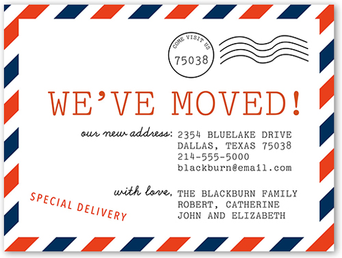 We 39 ve moved postcard 4x5 moving announcement cards for We have moved cards templates