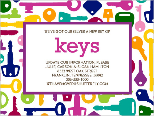 Colorful Keys Moving Announcement