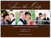 happiness script save the date 4x5 flat