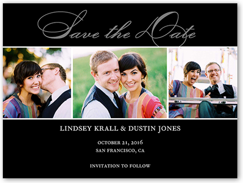 Happiness Script Save The Date, Square