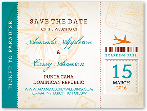 Ticket To Paradise Save The Date, Square