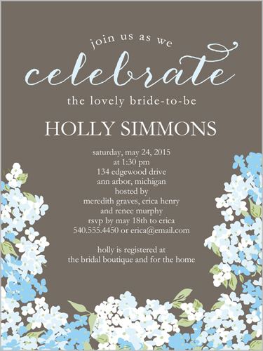 Blooming Hydrangea 4x5 Bridal Shower Invitations Shutterfly