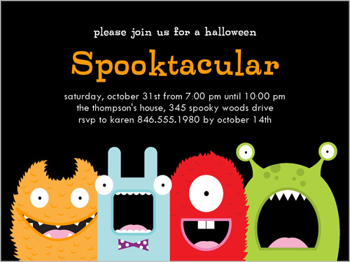 Spooktacular Halloween Invitation