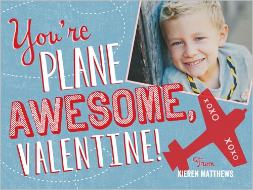 You're Plane Awesome Valentine's Card, Square
