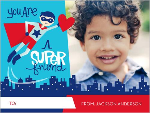 Special Super Friend Valentine's Card, Square