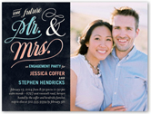 forever together engagement party invitation 4x5 flat