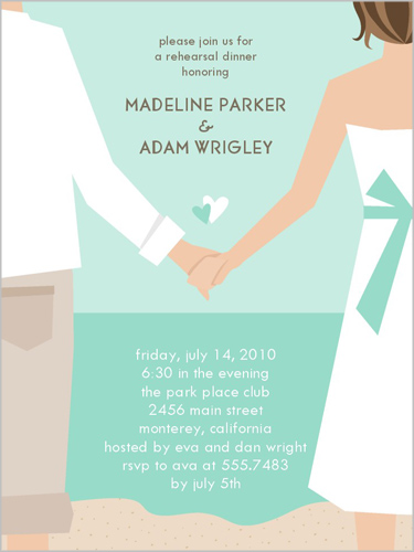 Hand In Hand Rehearsal Dinner Invitation