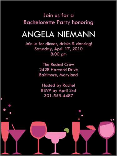 High Spirits Bachelorette Party Invitation