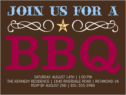 Wild West BBQ Summer Invitation