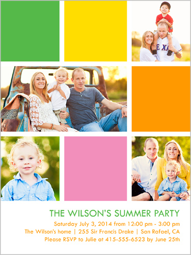 Bright Blocks Summer Summer Invitation