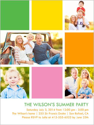 Bright Blocks Summer Summer Invitation, Square