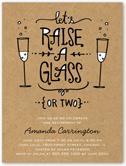 raise your glass summer invitation 4x5 flat
