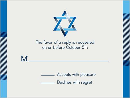 The Stars Align Bar Mitzvah Response Card