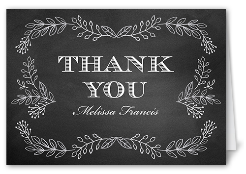 Captivated Chalk Thank You Card