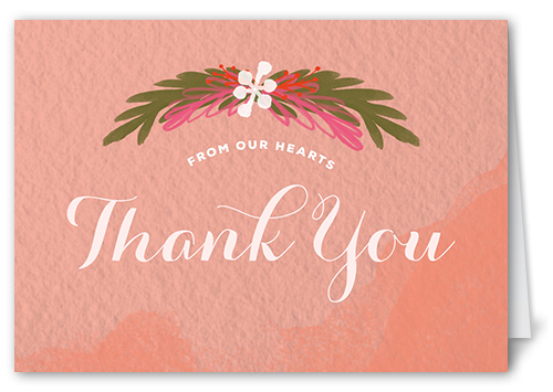 Darling Floral Thank You Card